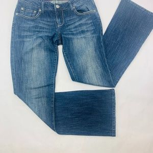 American Eagle Womens Jeans 6 Blue Hipster Flare